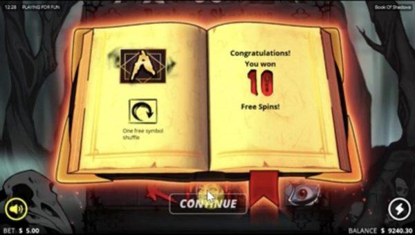 สล็อต Book of Shadows  ธีมสยองขวัญที่เต็มไปด้วยเงินรางวัล